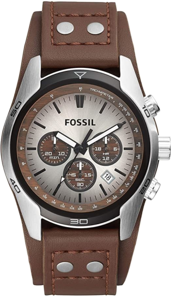 Fossil Leather Watch, Fathers Day Gift, Affordable Wristwatch