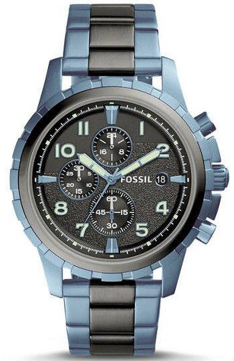 Blue Fossil Wristwatch, Mens Wristwatch, Fathers Day Present